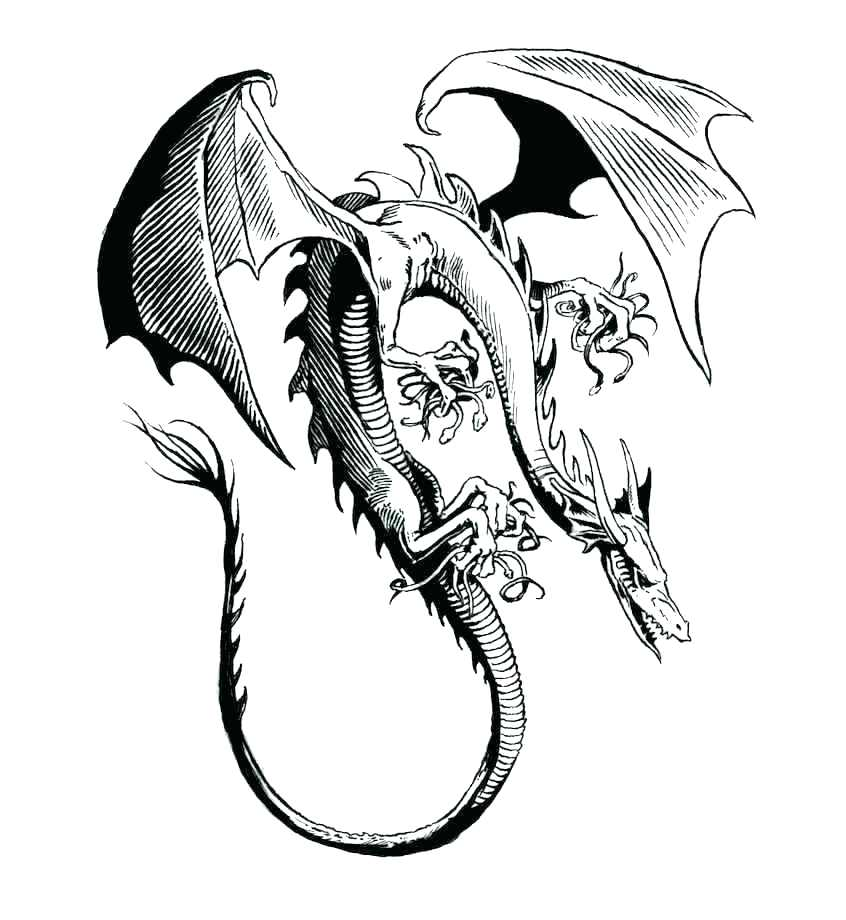 846x920 Dragon Coloring Dragon Coloring Pages New Year Dragon Coloring
