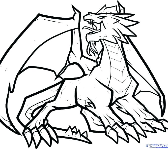 678x600 Dragon Coloring Pages Easy Cool Dragon Coloring Pages Cool Dragon