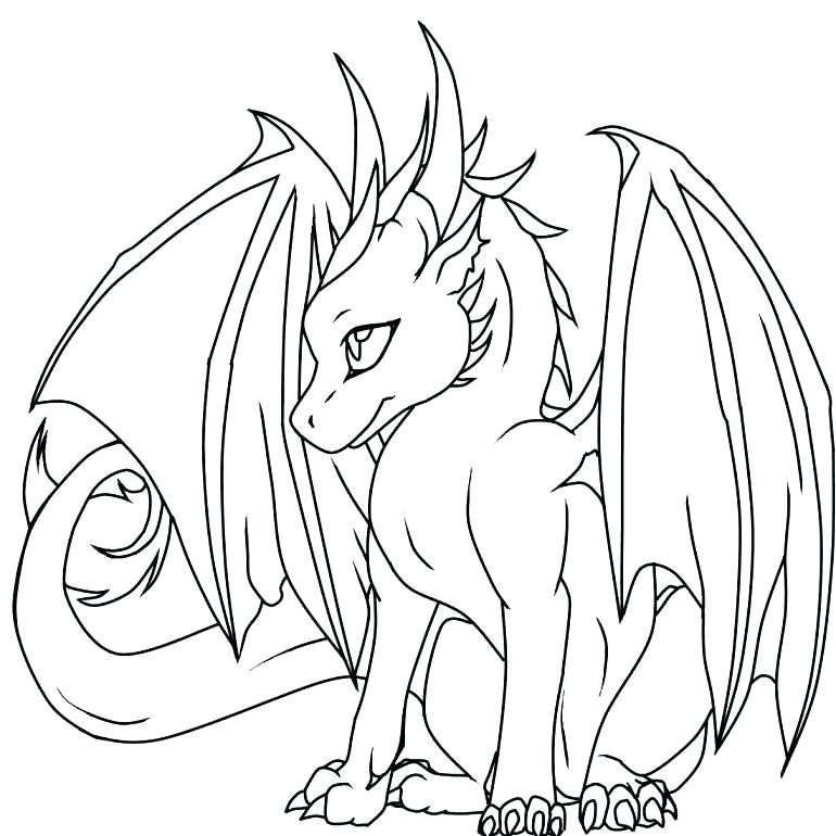770x770 Awesome Dragon Coloring Pages Cool Dragon Coloring Pages Real