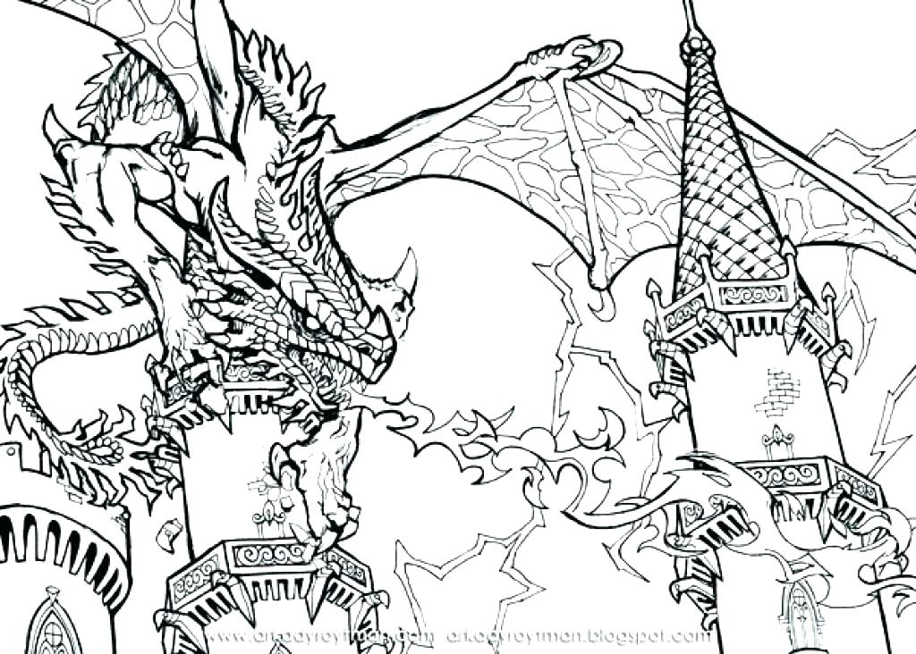 1024x732 Dragons Coloring Pages Cool Dragon Coloring Pages Cool Coloring