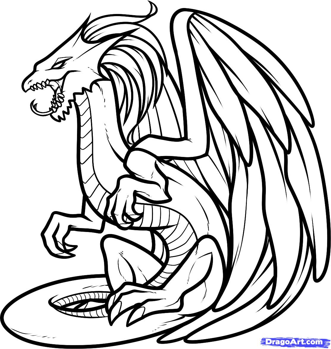 Awesome Dragon Coloring Pages at GetDrawings.com | Free for ...
