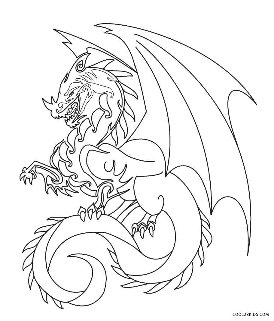 912x1065 Printable Dragon Coloring Pages For Kids