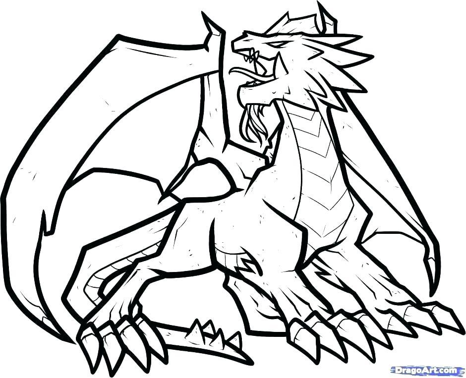 940x763 Real Dragon Coloring Pages Talantbekovme Real Dragon Coloring
