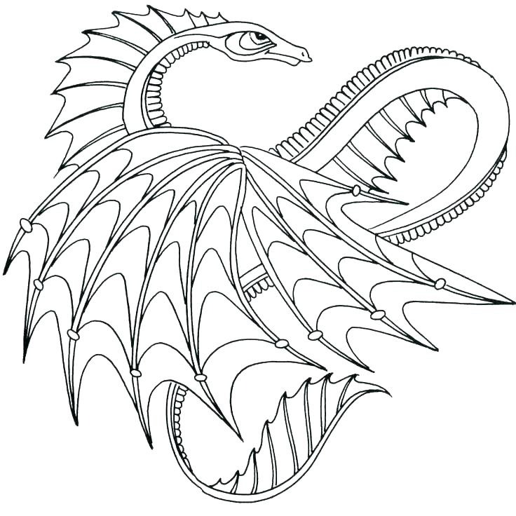736x736 Cool Dragon Coloring Pages