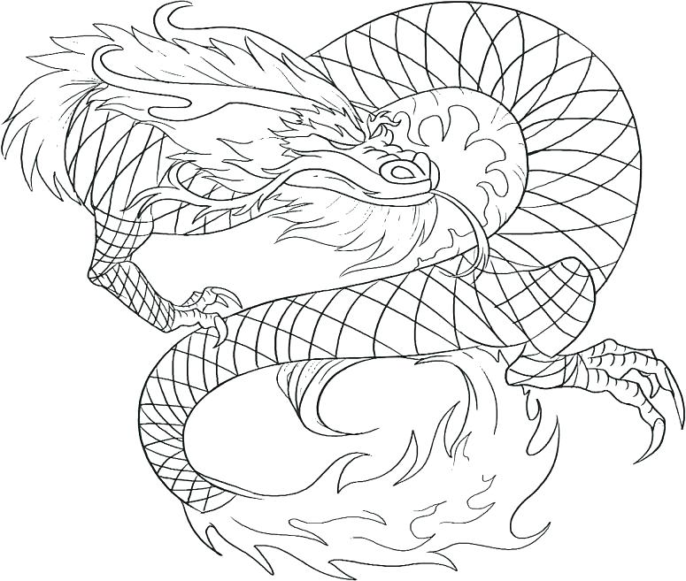 Awesome Dragon Coloring Pages at GetDrawings | Free download