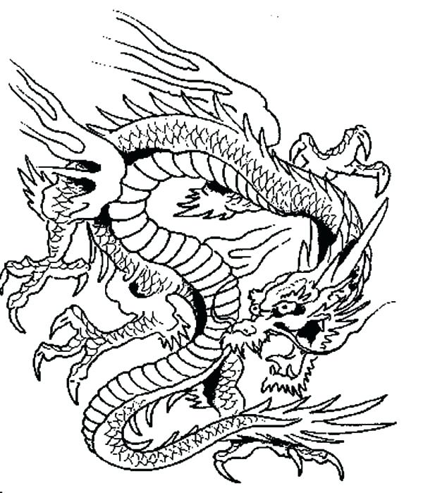 600x699 Awesome Dragon Coloring Pages For Adults Or Dragon Evil Dragon