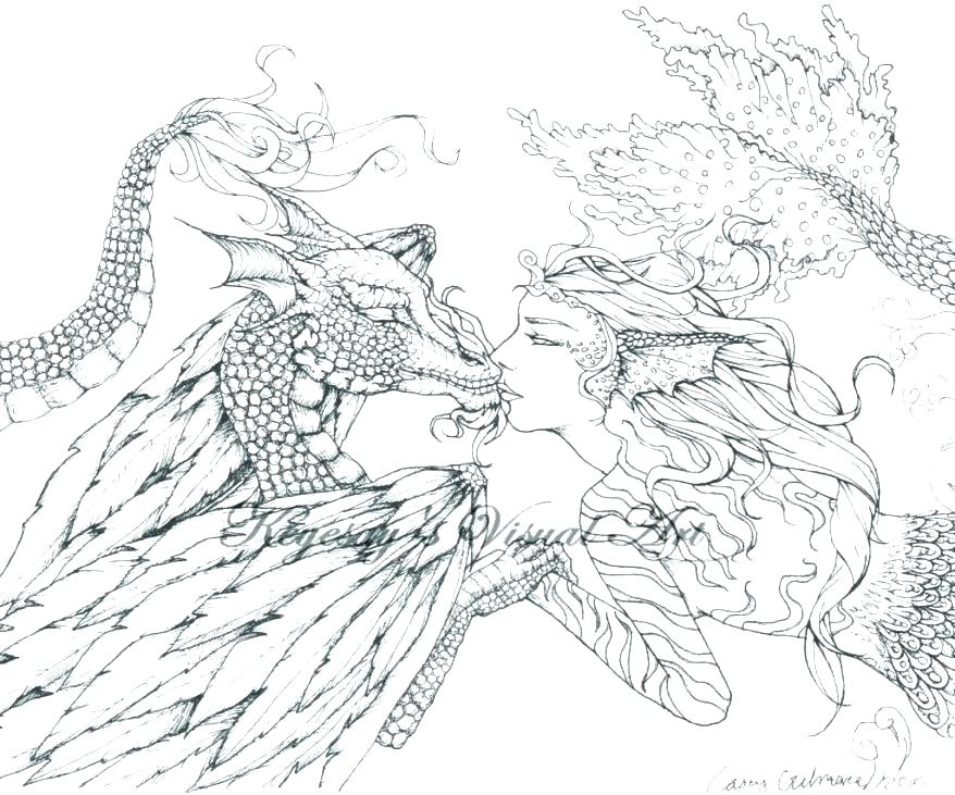 878x731 Awesome Dragon Coloring Pages Realistic Fairy Coloring Pages Trend