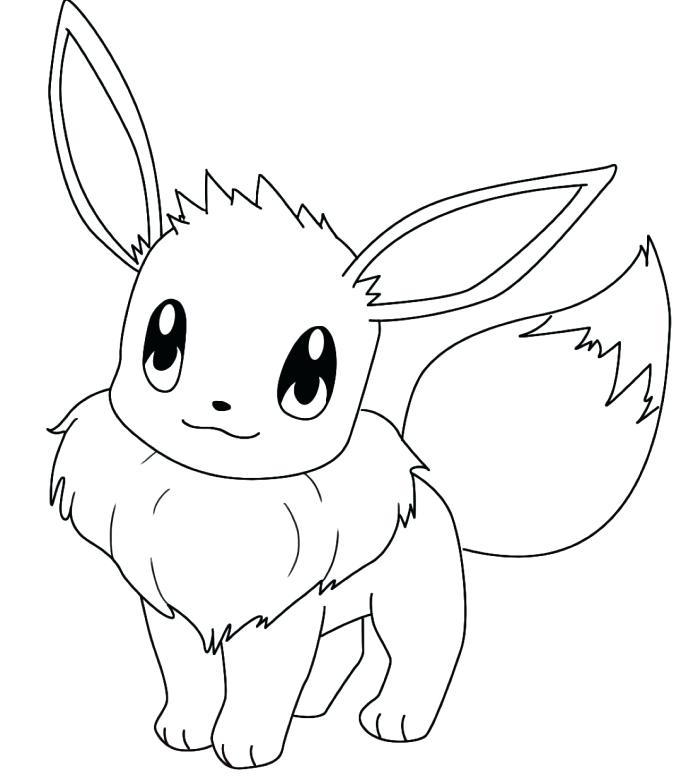 681x783 Eevee Coloring Pages To Print Awesome Pokemon Coloring Pages Eevee