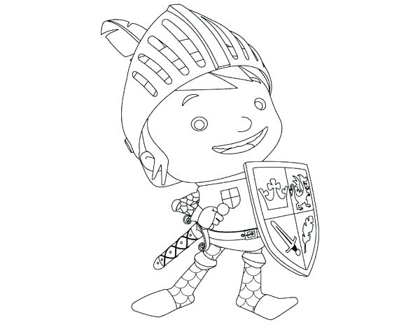 600x464 Mike The Knight Coloring Pages Knight Coloring Sheet Knights Used