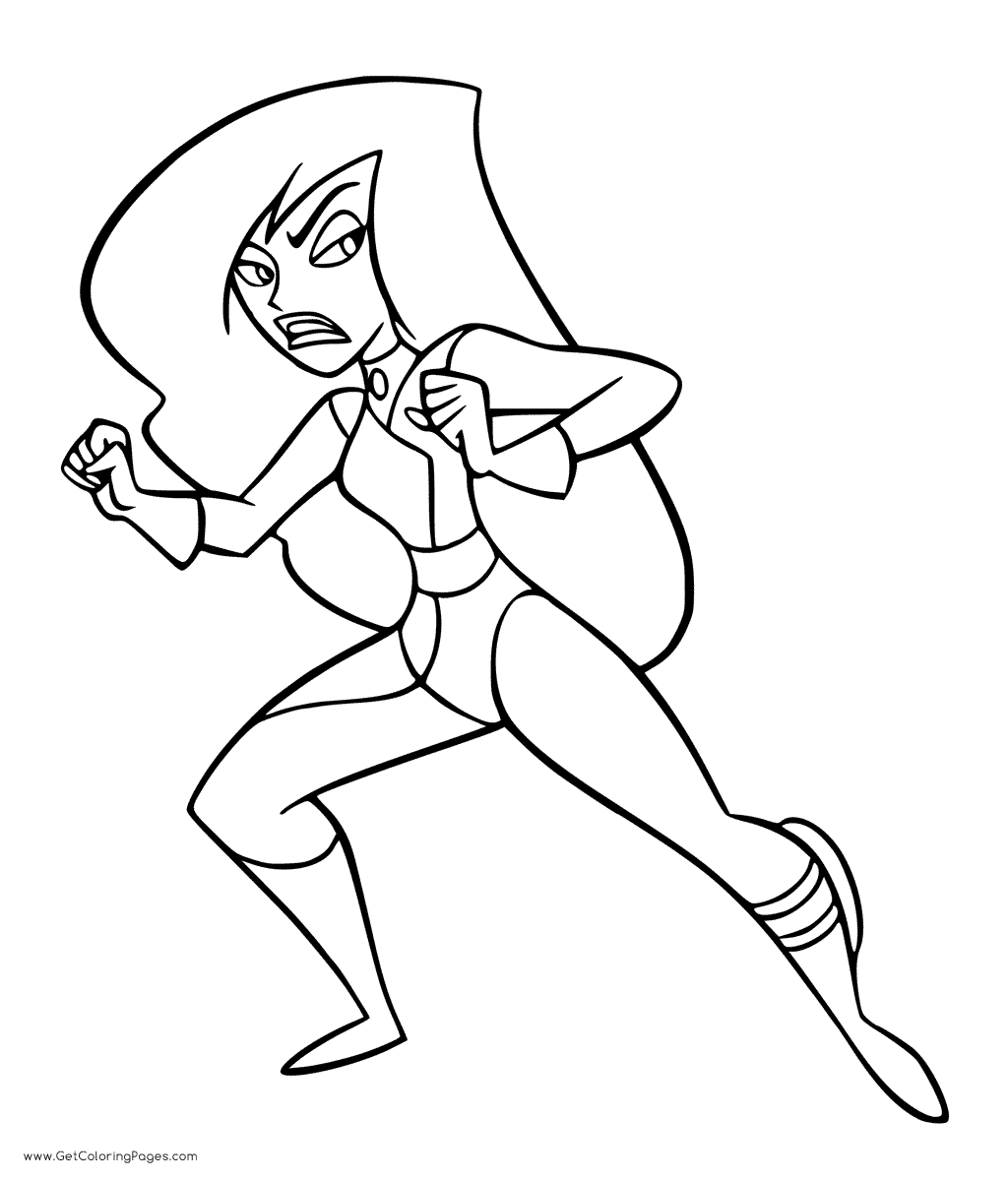 1024x1200 Shego From Kim Possible Coloring Page