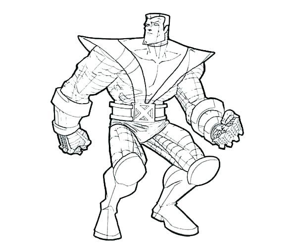 600x500 Xmen Coloring Pages A X Men Rogue Coloring Pages