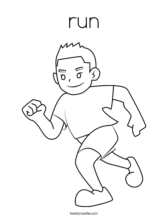685x886 Run Coloring Page
