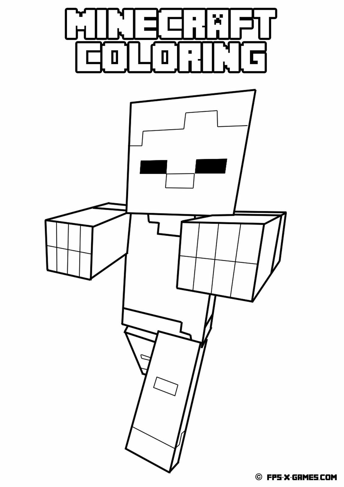 1131x1600 Coloring Minecraft Color Pages As Well As Minecraft Coloring