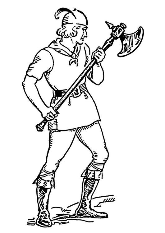 531x750 Coloring Page Battle Axe