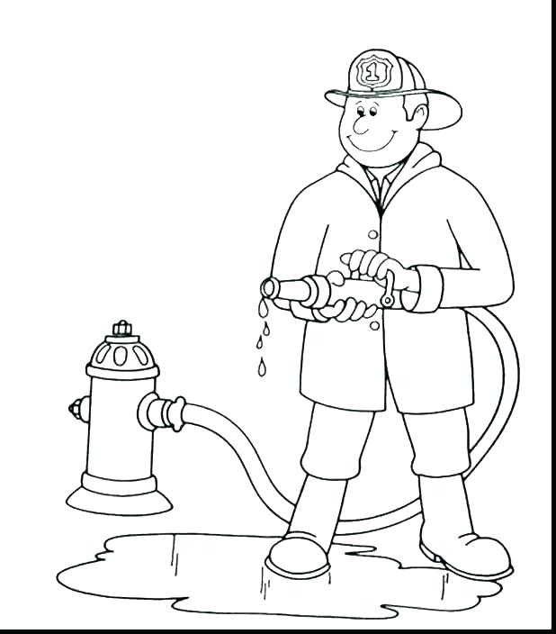 618x704 Fire Fighter Coloring Page Firefighter Hat Coloring Page Cross