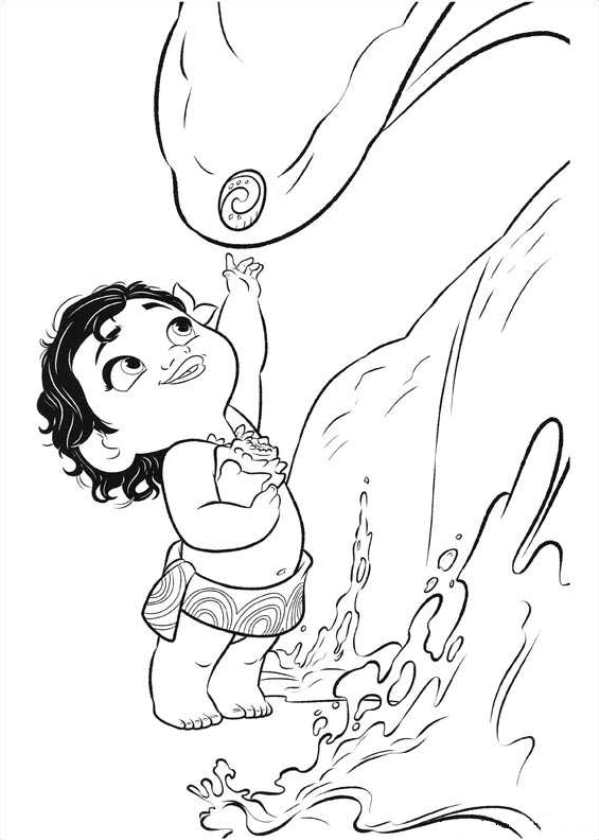 599x840 Moana Coloring Pages