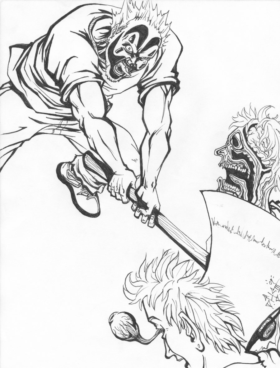 900x1179 Practical Hatchet Man Coloring Pages Holding A Battle Axe Page