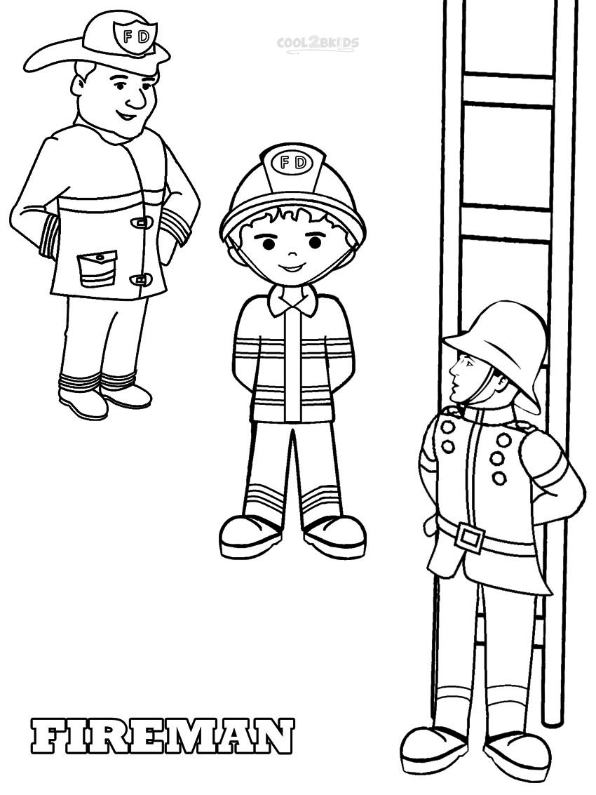 850x1133 Printable Fireman Coloring Pages