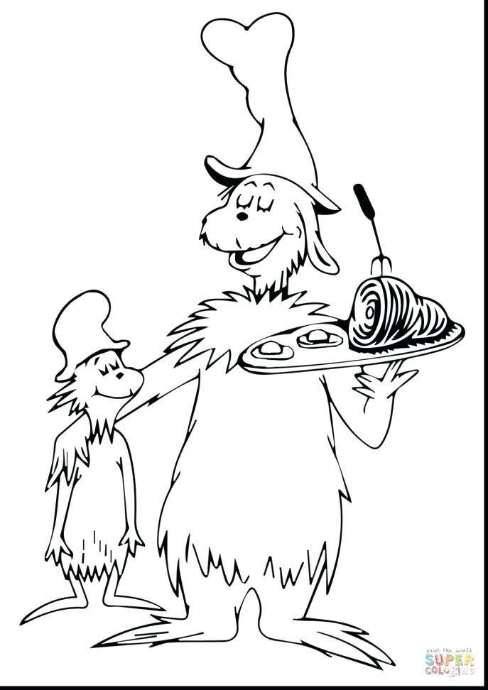 687x972 The Lorax Coloring Page And His Axe Coloring Pages