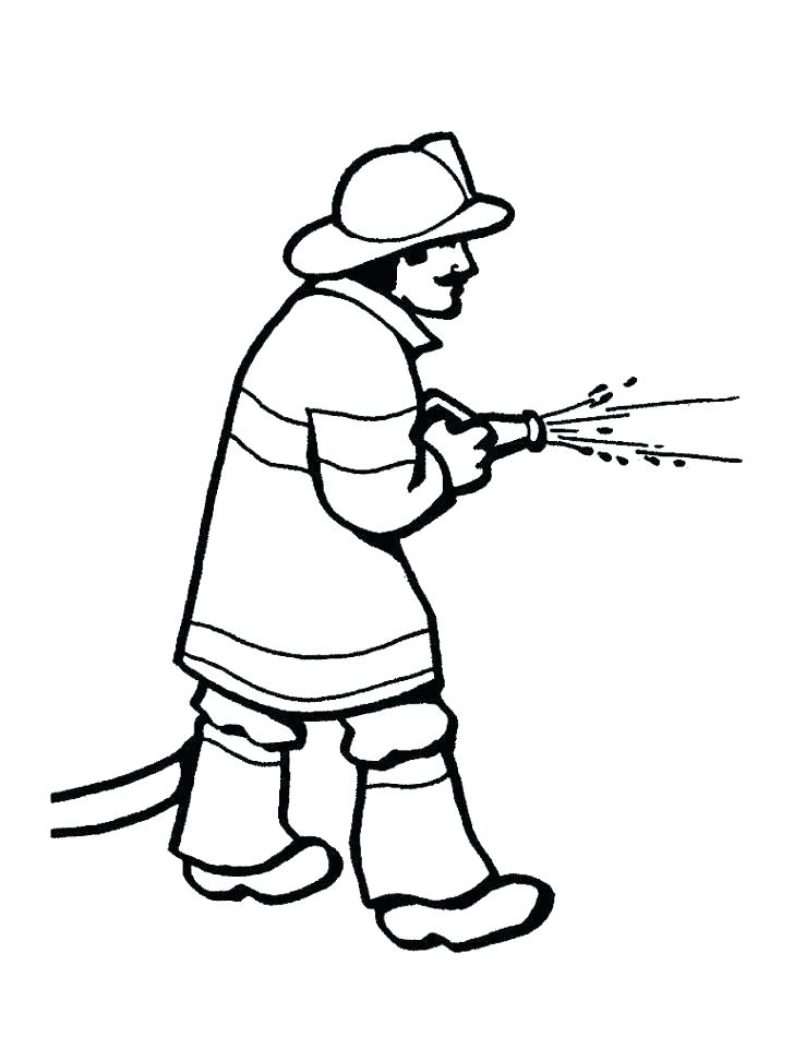 728x971 Axe Coloring Pages Firefighter Hat Coloring Page Cross