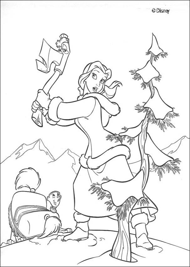 607x850 Belle And Axe Coloring Pages