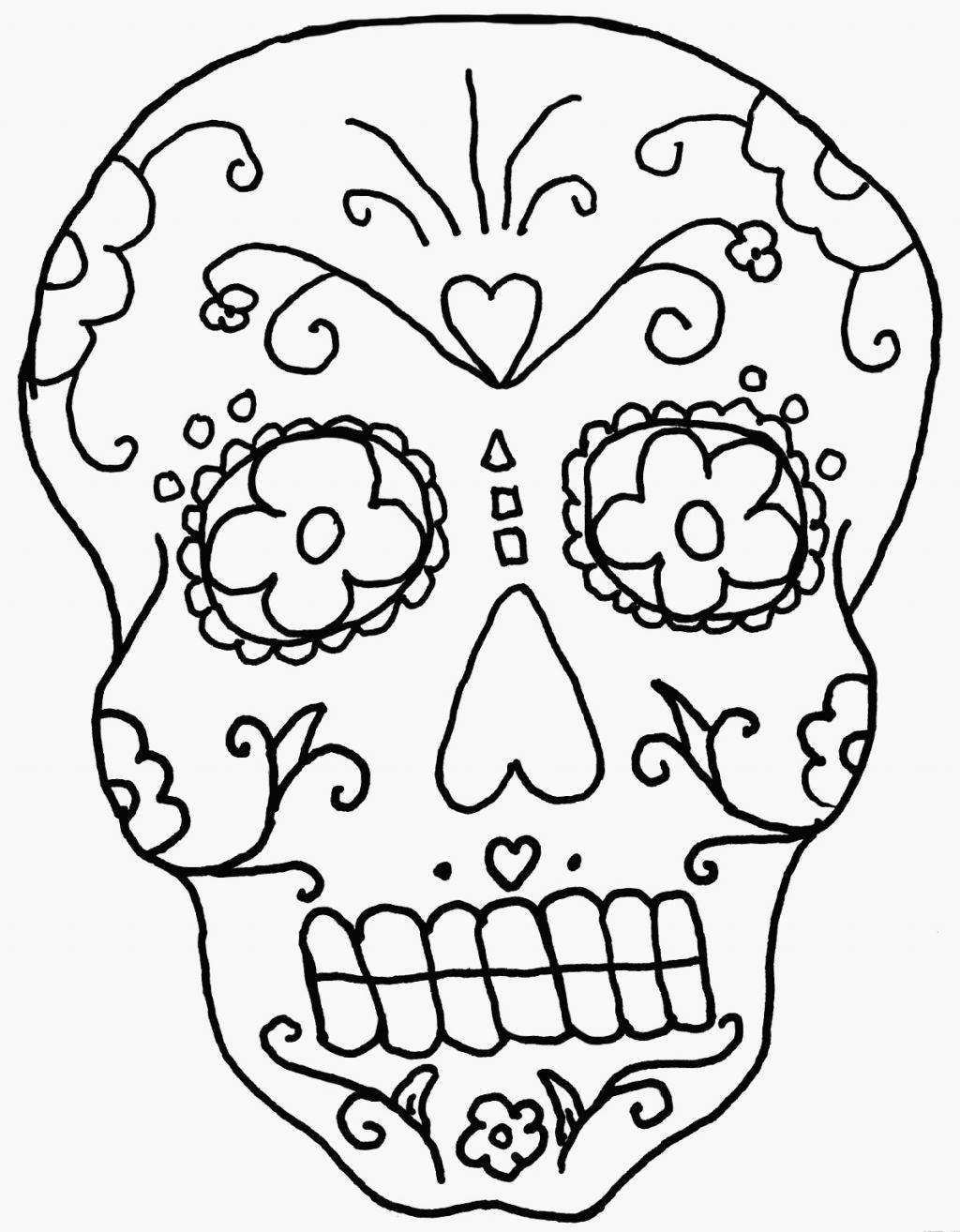 1024x1314 Skeleton Coloring Pages