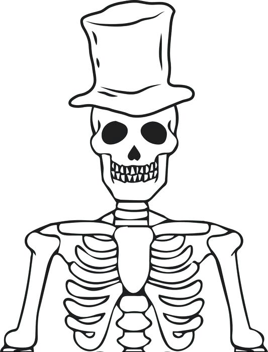 533x700 Skeleton Coloring Pages Printable Free Printable Skeleton Coloring
