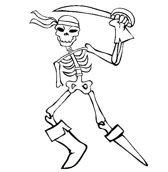 554x565 Skeleton Pictures To Color Drawn Skeleton Coloring Page Axial