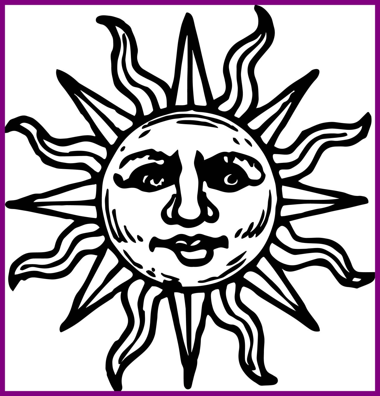 Aztec Sun Coloring Pages