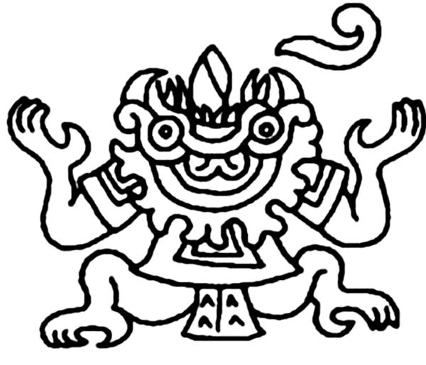 Aztec Sun Coloring Pages At Getdrawings Com
