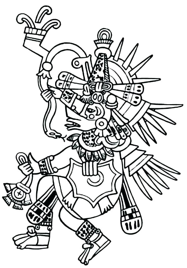 600x859 Aztec Coloring Pages Coloring Pages With King Of Bless His Warrior