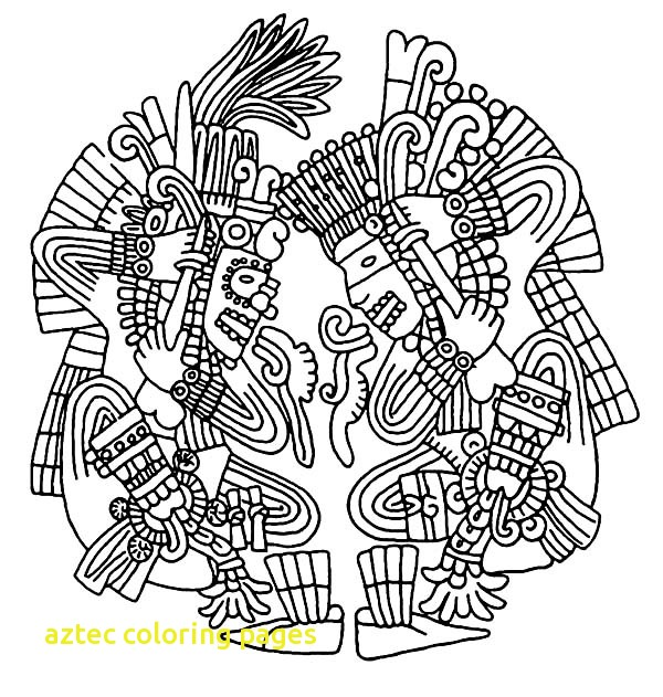 600x631 Aztec Coloring Pages With Aztec Art Coloring Pages