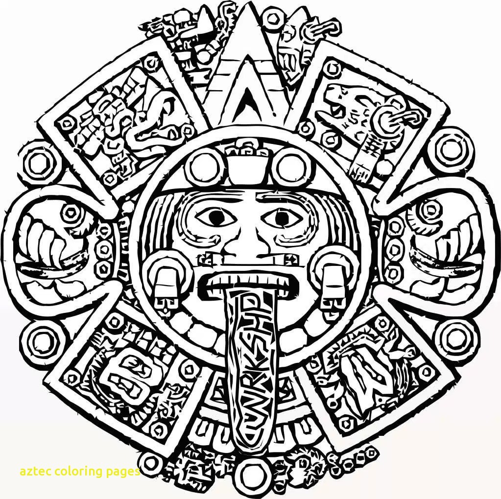 1023x1019 Aztec Coloring Pages With Aztec Calendar Coloring Page Aztec