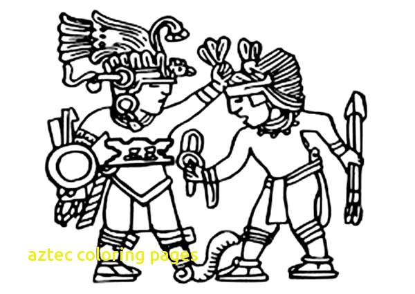 600x425 Aztec Coloring Pages With King Of Aztec Bless His Warrior Coloring