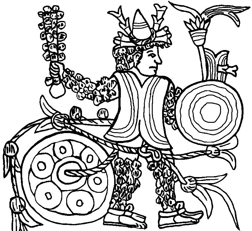 830x762 Aztec Empire Coloring Page