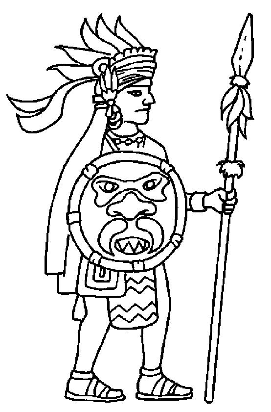 554x840 Aztec Empire Coloring Page