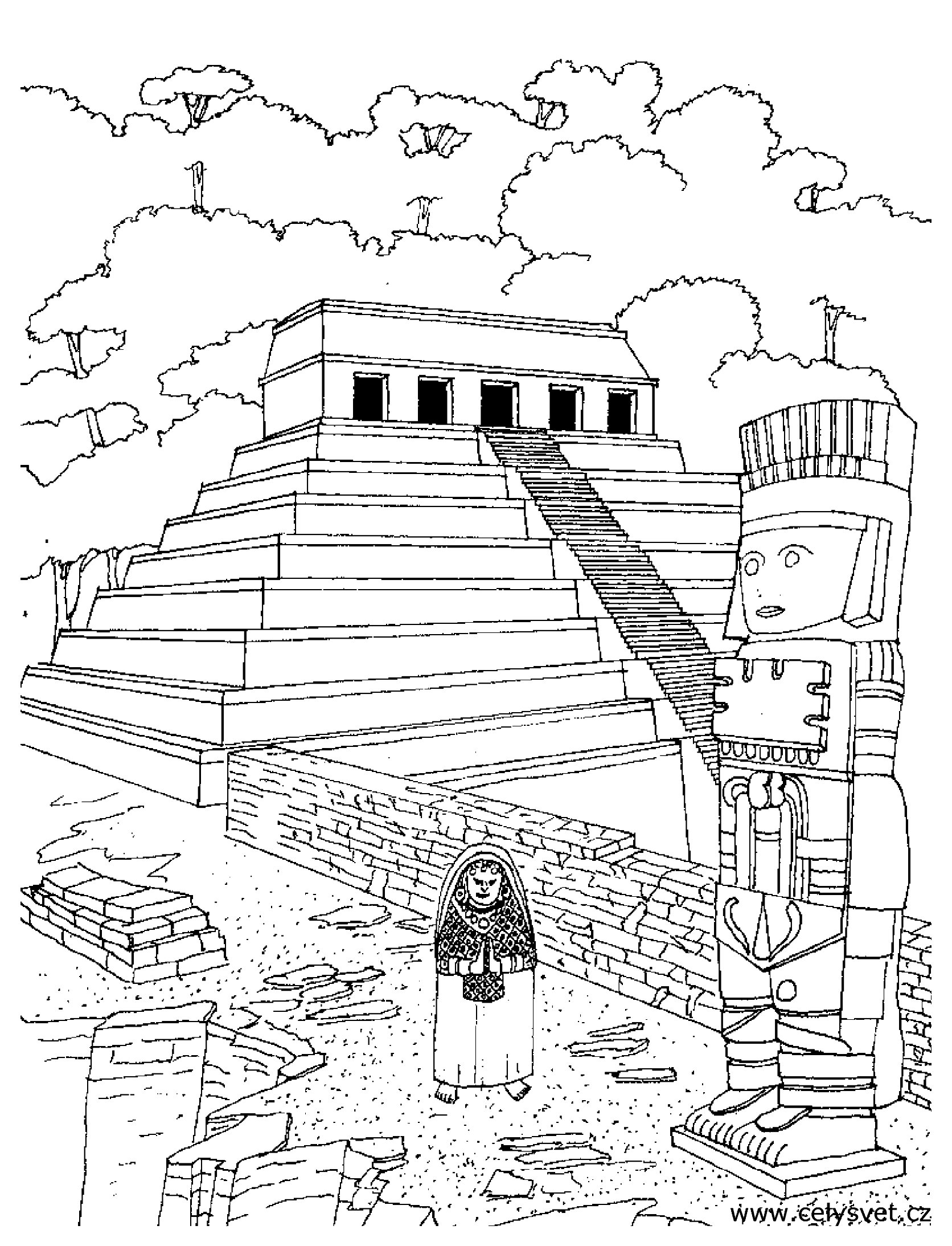 1672x2187 Aztec Warrior Coloring Page Free Printable Pages Vc