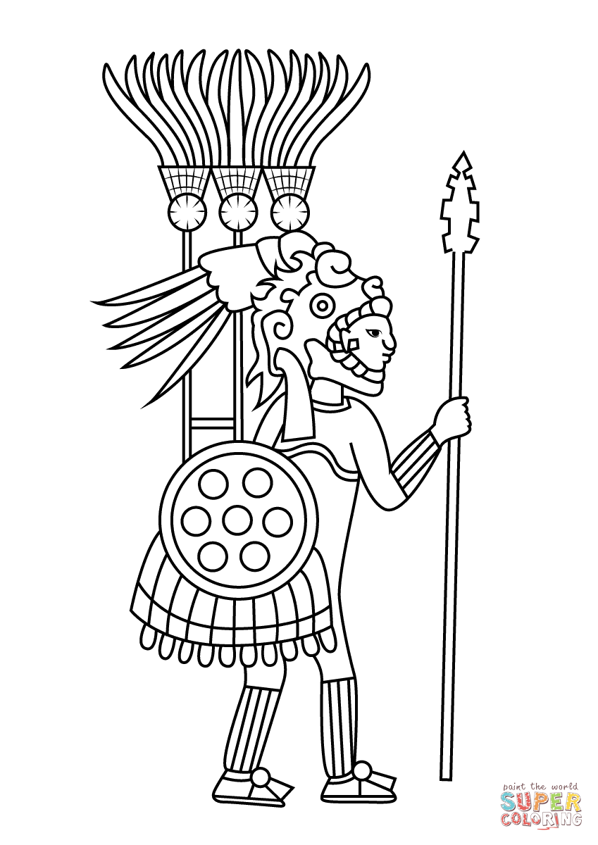 849x1200 Aztec Warrior Coloring Page Free Printable Coloring Pages Vc