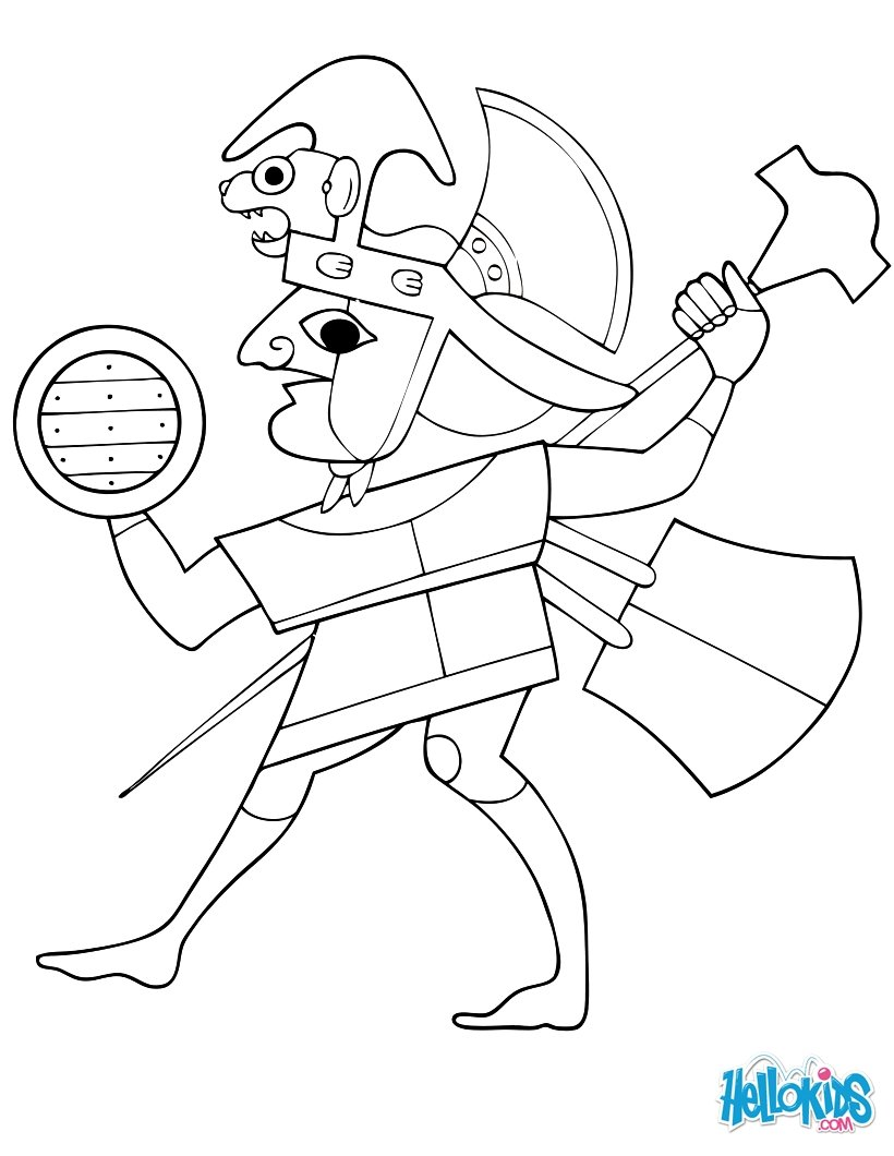 820x1060 Moche Warrior Coloring Pages