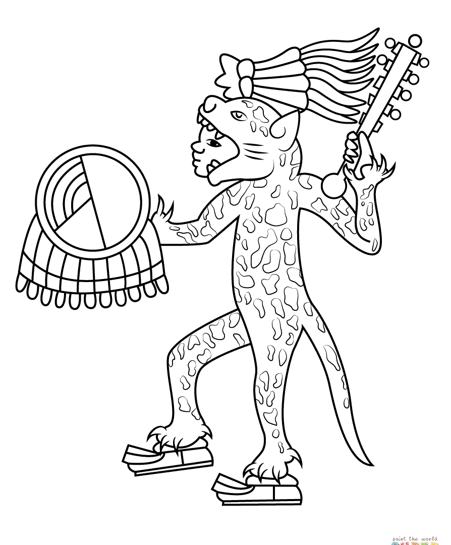894x1080 Printable Aztecndar Coloring Pages Download Page Img Adult Online