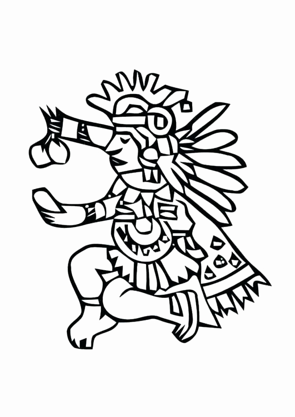 600x847 Aztec Coloring Pages Collection Aztec Mask Of Xiuhtecuhtli