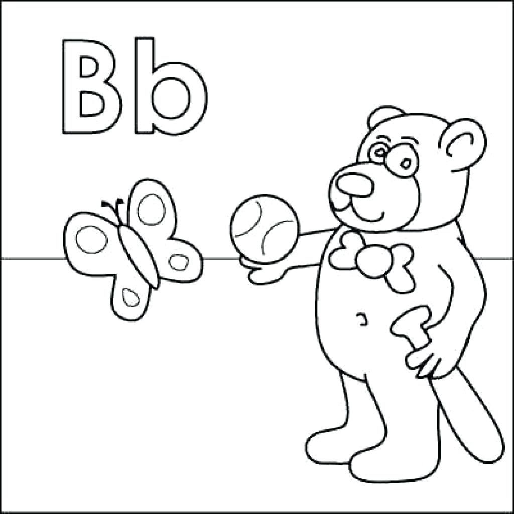 1024x1024 Coloring Pages Of The Letter B To Print Coloring For Kids