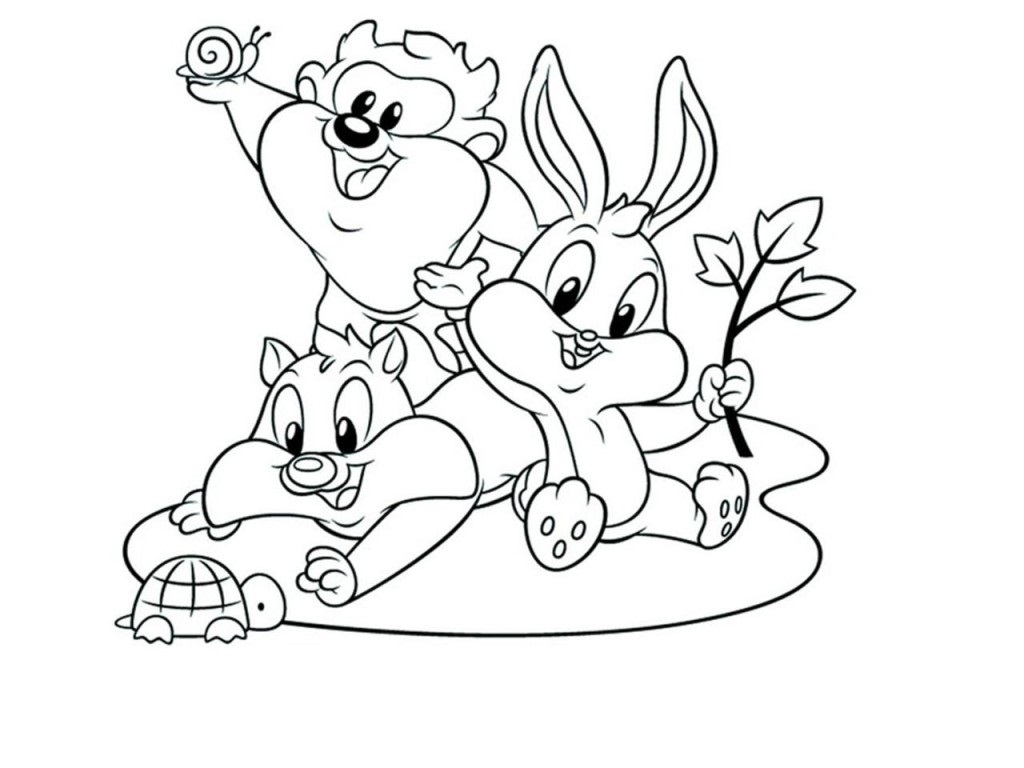 1024x768 New Tunes Squad Coloring Pages Design Free Coloring Pages