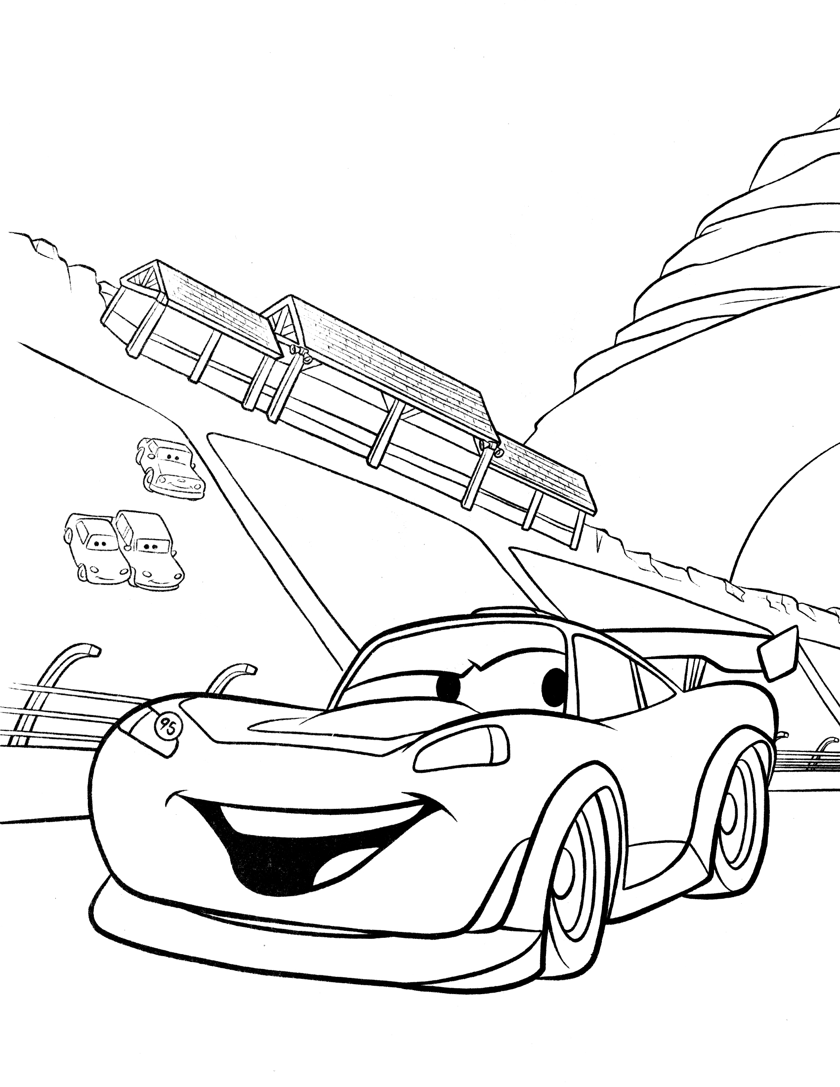 1700x2200 Simple Car Coloring Pages Download