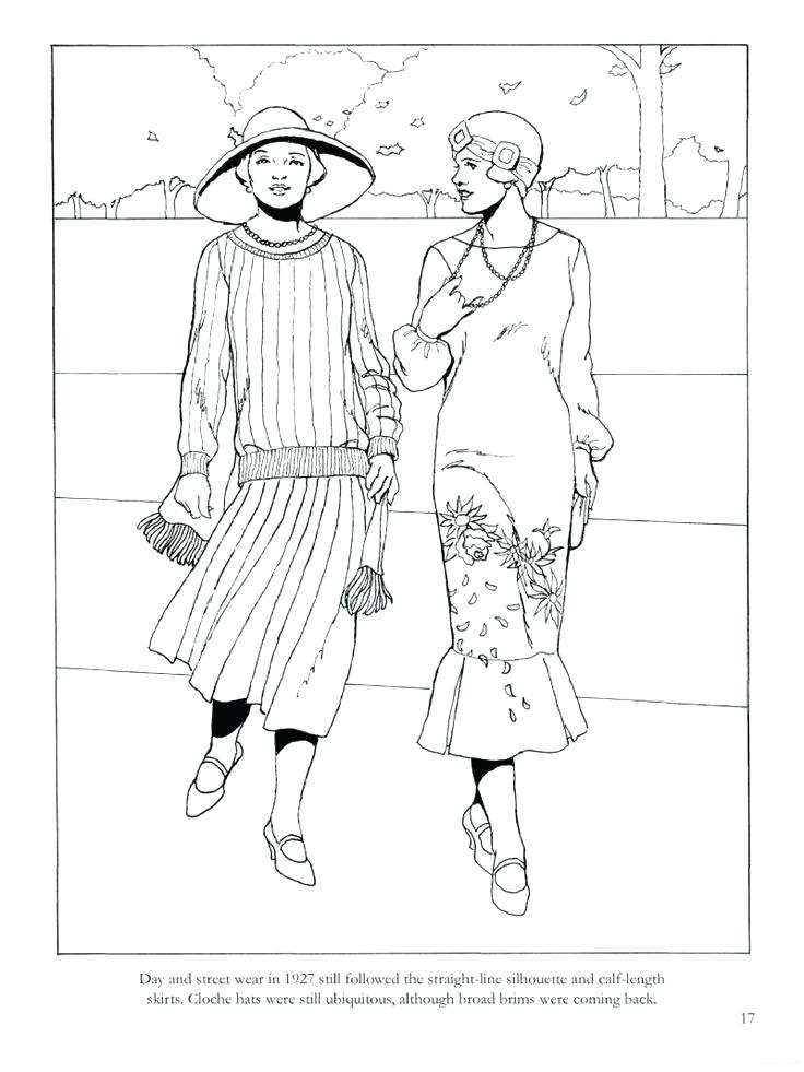 736x981 Sudoku Coloring Page From Fashions Of The Roaring Twenties
