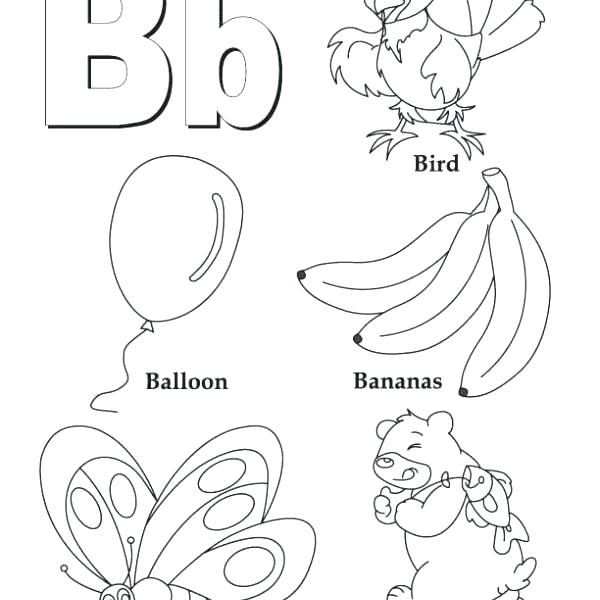 600x600 Coloring Pages Letter B Coloring Page Letter A Coloring Pages
