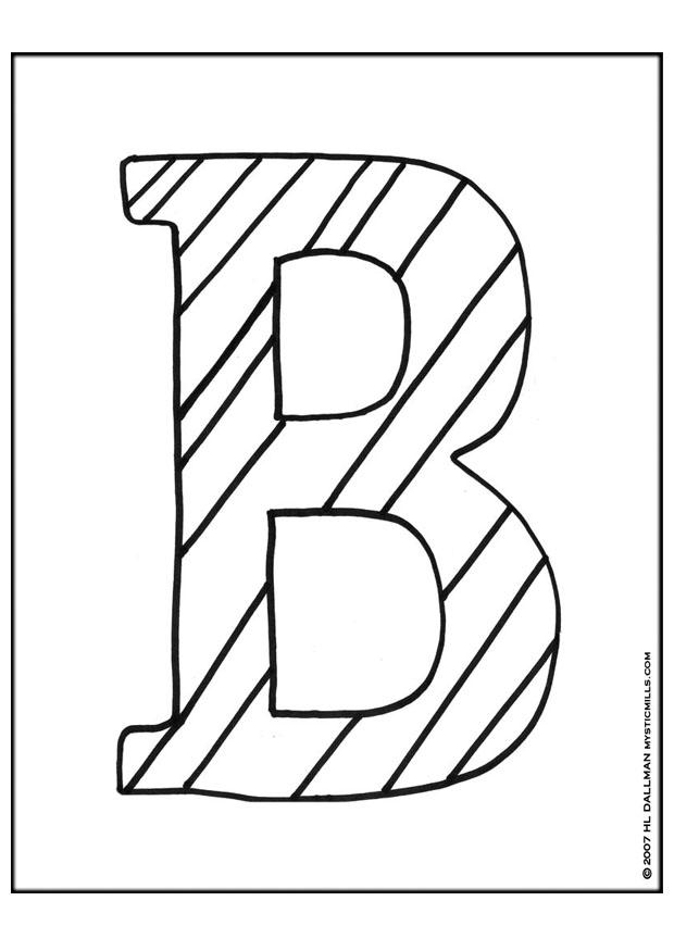 620x875 Coloring Page Letter B
