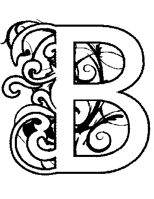 300x388 Illuminated B Coloring Page