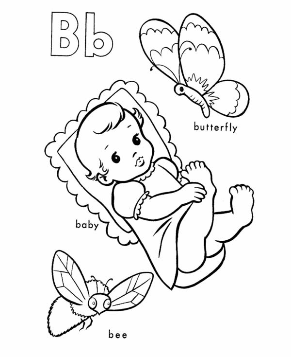 600x734 Learning Letter B Coloring Page For Kids Best Place To Color