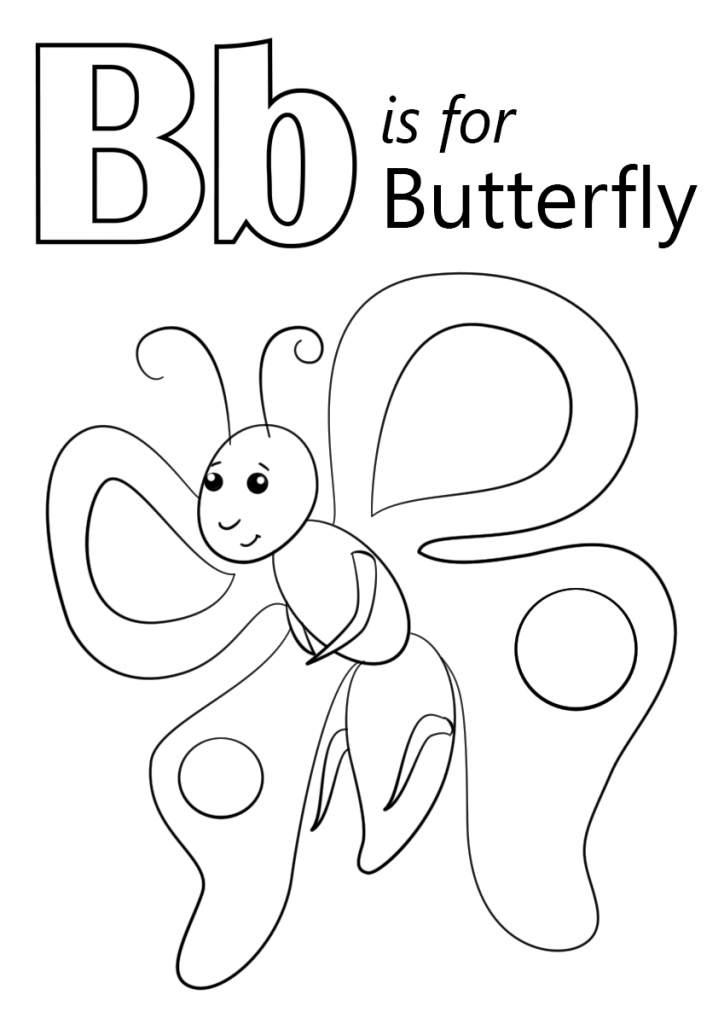 724x1024 Letter B Coloring Page